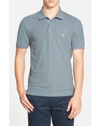 Original Penguin - Gray 'daddy O' Classic Fit Pique Polo for Men - Lyst