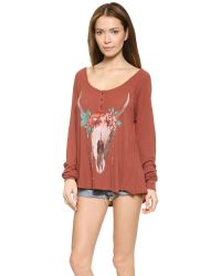 Wildfox - Orange Desert Dahlia Thermal - Roadtrip Poly - Lyst