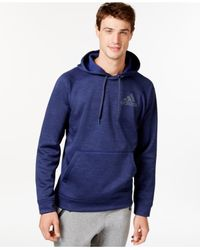 Adidas | Blue Men's Fleece Pullover Hoodie for Men | Lyst