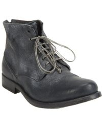 Shoto | Black Washed Lace-Up Ankle Boots for Men | Lyst