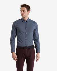 Ted Baker - Blue Wowwee Target Print Shirt for Men - Lyst