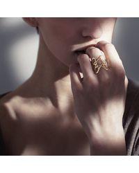 Ralph Masri - Metallic Arabesque Ring - Lyst