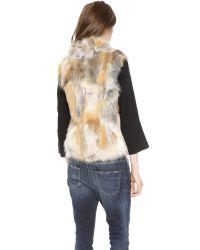 Sam. | Brown Lola Melange Fur Vest | Lyst