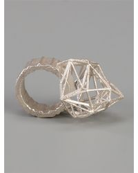 Lotocoho | Metallic Axii Ring for Men | Lyst