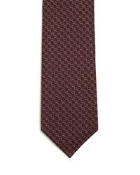Gucci - Purple Interlocking G Striped Tie for Men - Lyst