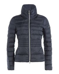 Peuterey - Black Quilted Down Jacket - Blue - Lyst