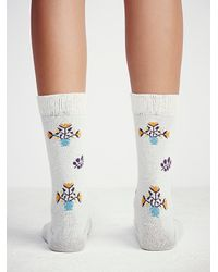 Free People - Natural Little River Sock Mill Womens Vintage Floral Crew Sock - Lyst