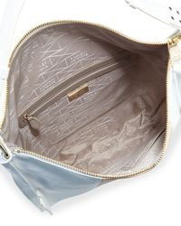 Badgley Mischka - White Taryn Colorblock Leather Hobo Bag - Lyst