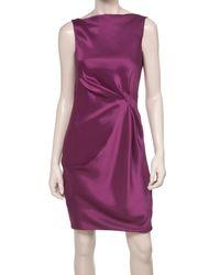 Leon Max | Purple Satin Organza Cocktail Dress | Lyst