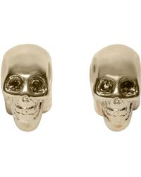 Givenchy | Metallic Brass Skull Magnetic Earrings | Lyst