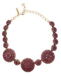 Oscar de la Renta - Purple Swarovski Crystal Necklace - Lyst