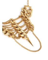 Ela Stone | Metallic 'Pamela' Curb Chain Tier Spike Bracelet | Lyst