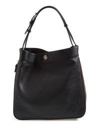 Tory Burch | Black 'Robinson' Hobo | Lyst