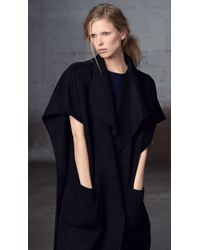 Tibi - Black Reversible Double Faced Wool Coat - Lyst