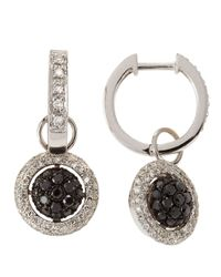 KC Designs - Metallic 14k Diamond Pave Hoop Round Drop Earrings - Lyst