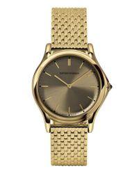 Emporio Armani | Metallic Round Bracelet Watch | Lyst