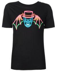 Lucien Pellat Finet - Black Skull Print T-shirt - Lyst
