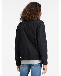 Calvin Klein - Black Jeans Cotton Poplin Jacket for Men - Lyst