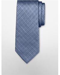 Calvin Klein - Blue Steel Etched Windowpane Tie for Men - Lyst