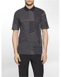 CALVIN KLEIN 205W39NYC - Black Extreme Slim Fit Pindot Dress Shirt for Men - Lyst