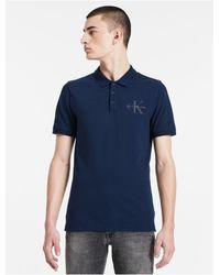 Calvin Klein | Blue Jeans Slim Fit Cotton Piqué Polo Shirt for Men | Lyst