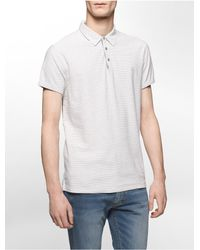 Calvin Klein | White Jeans Slim Fit Micro Geo Polo Shirt for Men | Lyst