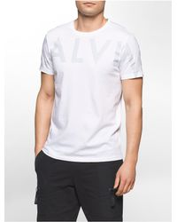 Calvin Klein | White Slim Fit Exploded Wrap Logo T-shirt for Men | Lyst
