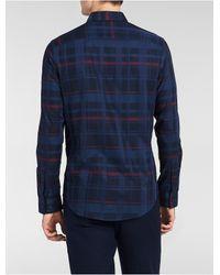 Calvin Klein   Blue Classic Fit Tonal Chambray Shirt for Men   Lyst