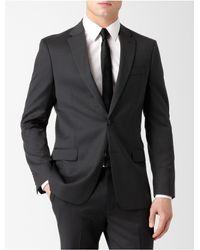 Calvin Klein | Black White Label Body Slim Fit Architect Micro Stripe Suit Jacket for Men | Lyst