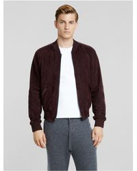 Calvin Klein - Multicolor Collection Nappa Suede Bomber + Satin Trim for Men - Lyst
