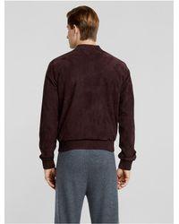 Calvin Klein - Multicolor Collection Nappa Suede Bomber + Satin Trim for Men - Lyst