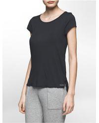 Calvin Klein - Black Underwear Cotton Modal Short Sleeve Top - Lyst