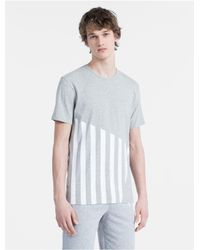 Calvin Klein Gray Modern Cotton Limited Edition Striped T-shirt for men