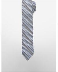 Calvin Klein | Blue Chambray Stripe Slim Tie for Men | Lyst