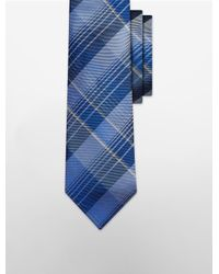 Calvin Klein - Blue Steel Tonal Plaid Tie for Men - Lyst
