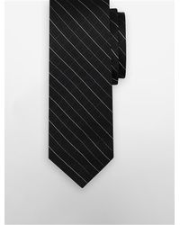 Calvin Klein | Black Steel Etched Windowpane Tie for Men | Lyst