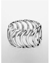Calvin Klein | Metallic Platinum Body Stainless Steel Bracelet | Lyst