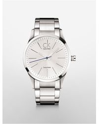 Calvin Klein - Metallic Platinum Bold Stainless Steel Watch for Men - Lyst