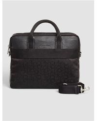 Calvin Klein | Black Jeans Power Logo Laptop Bag for Men | Lyst