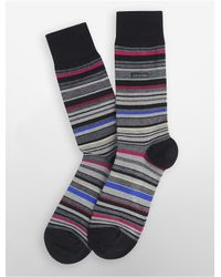 Calvin Klein | Black Underwear Multicolored Stripe Socks for Men | Lyst