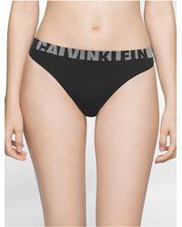 Calvin Klein   Black Underwear Seamless Thong   Lyst