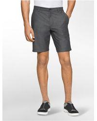 Calvin Klein - Black Slim Fit Double Faced Shorts for Men - Lyst