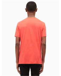 Calvin Klein - Red Highlight Logo T-shirt for Men - Lyst