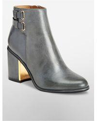 Calvin Klein | Gray Cait Bootie | Lyst