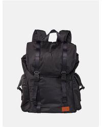 Calvin Klein - Black Monogram Logo Drawstring Backpack for Men - Lyst