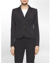 Calvin Klein - Black Scuba Two-button Suit Jacket - Lyst