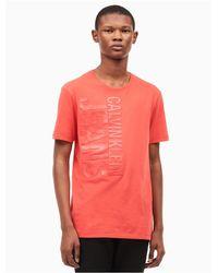 Calvin Klein | Red Highlight Logo T-shirt for Men | Lyst