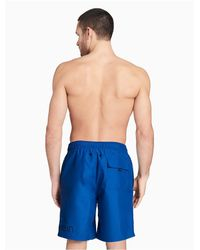 CALVIN KLEIN 205W39NYC - Blue Solid Volley Shorts for Men - Lyst