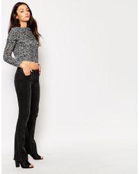 Vero Moda - Black Chunky Neck Long Sleeve Jumper - Lyst