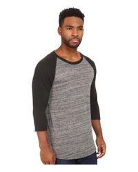Alternative Apparel | Gray Eco Space Dye Jersey Traveler Baseball T-shirt for Men | Lyst